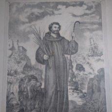 Arte: GRABADO SAN DANIEL ABOGADO NAVEGANTES Y CAMINANTES M.BORDAS.EDITOR.BARÑA. Lote 140102662