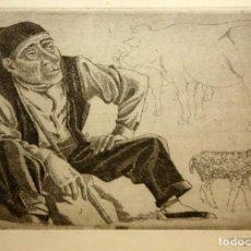 Arte: XAVIER NOGUÉS CASAS (1873-1940) AGUAFUERTE ORIGINAL FIRMADO A LAPIZ. Lote 140124146