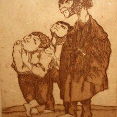 Arte: XAVIER NOGUÉS CASAS (1873-1940) AGUAFUERTE ORIGINAL FIRMADO A LAPIZ Y FECHADO DEL AÑO 1930. Lote 140124858