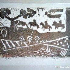 Arte: VENANCIO BLANCO (SALAMANCA,1923 - MADRID, 2018) - PRUEBA DE ARTISTA, FELICITACIÓN NAVIDEÑA. Lote 140174302