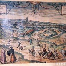 Arte: REPRODUCCIÓN DE GRABADO EN COLOR DE SEVILLA EN EL SIGLO XVIII. PROCESIÓN DE LA ADÚLTERA.. Lote 140195930