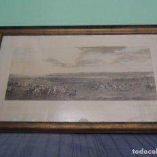 Arte: GRABADO ANTIGUO ENMARCADO P. FILLERMANNS DE KING GEORGE 1ST. AT NEWMARKET 1722. Lote 140326054