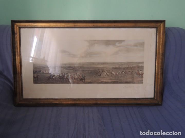 Arte: GRABADO ANTIGUO ENMARCADO P. FILLERMANNS DE KING GEORGE 1st. at NEWMARKET 1722 - Foto 2 - 140326054
