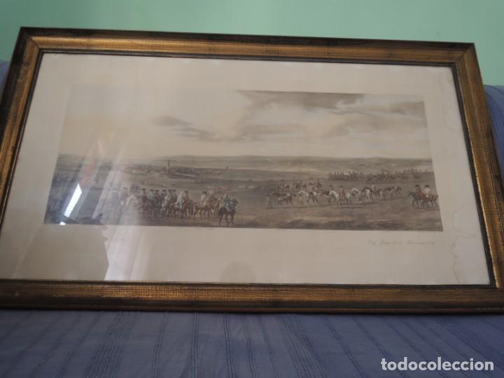 Arte: GRABADO ANTIGUO ENMARCADO P. FILLERMANNS DE KING GEORGE 1st. at NEWMARKET 1722 - Foto 3 - 140326054