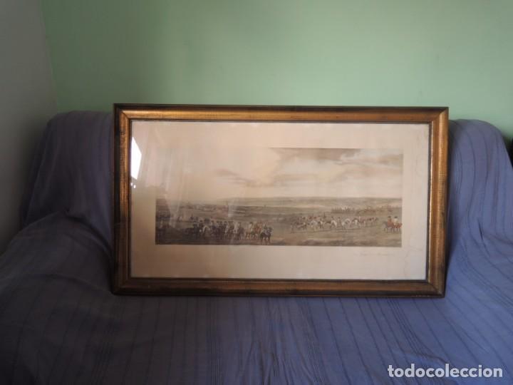Arte: GRABADO ANTIGUO ENMARCADO P. FILLERMANNS DE KING GEORGE 1st. at NEWMARKET 1722 - Foto 4 - 140326054