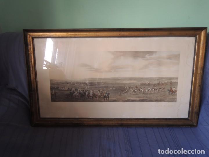 Arte: GRABADO ANTIGUO ENMARCADO P. FILLERMANNS DE KING GEORGE 1st. at NEWMARKET 1722 - Foto 5 - 140326054