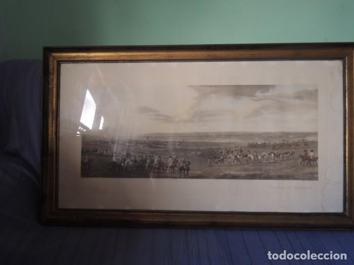 Arte: GRABADO ANTIGUO ENMARCADO P. FILLERMANNS DE KING GEORGE 1st. at NEWMARKET 1722 - Foto 6 - 140326054