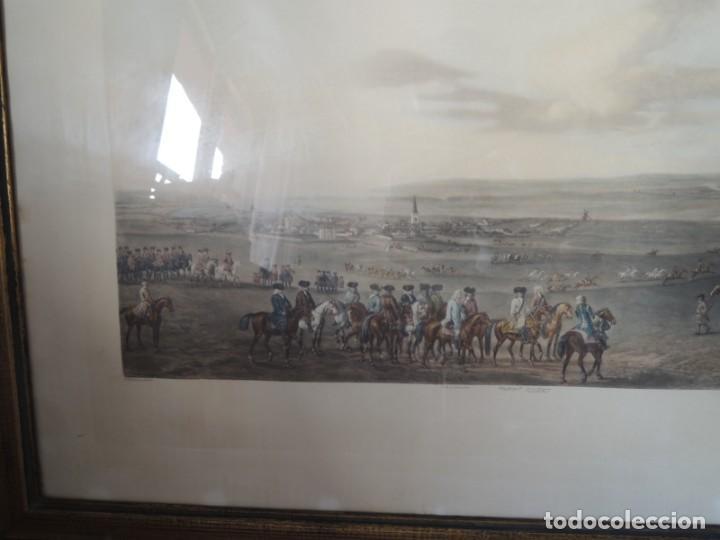 Arte: GRABADO ANTIGUO ENMARCADO P. FILLERMANNS DE KING GEORGE 1st. at NEWMARKET 1722 - Foto 7 - 140326054