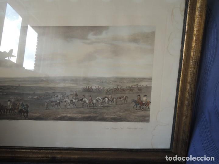 Arte: GRABADO ANTIGUO ENMARCADO P. FILLERMANNS DE KING GEORGE 1st. at NEWMARKET 1722 - Foto 8 - 140326054