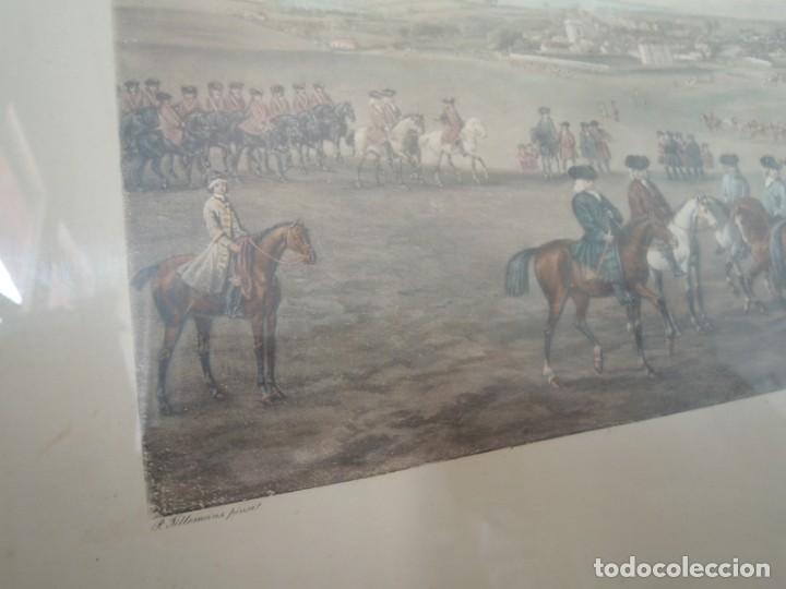 Arte: GRABADO ANTIGUO ENMARCADO P. FILLERMANNS DE KING GEORGE 1st. at NEWMARKET 1722 - Foto 9 - 140326054