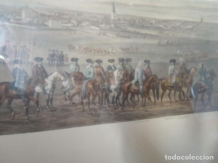 Arte: GRABADO ANTIGUO ENMARCADO P. FILLERMANNS DE KING GEORGE 1st. at NEWMARKET 1722 - Foto 10 - 140326054