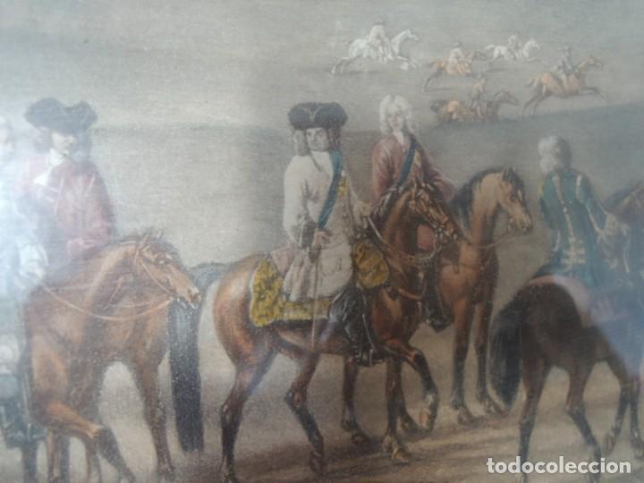 Arte: GRABADO ANTIGUO ENMARCADO P. FILLERMANNS DE KING GEORGE 1st. at NEWMARKET 1722 - Foto 11 - 140326054