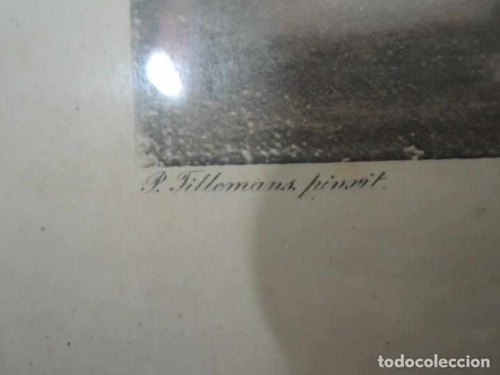Arte: GRABADO ANTIGUO ENMARCADO P. FILLERMANNS DE KING GEORGE 1st. at NEWMARKET 1722 - Foto 12 - 140326054
