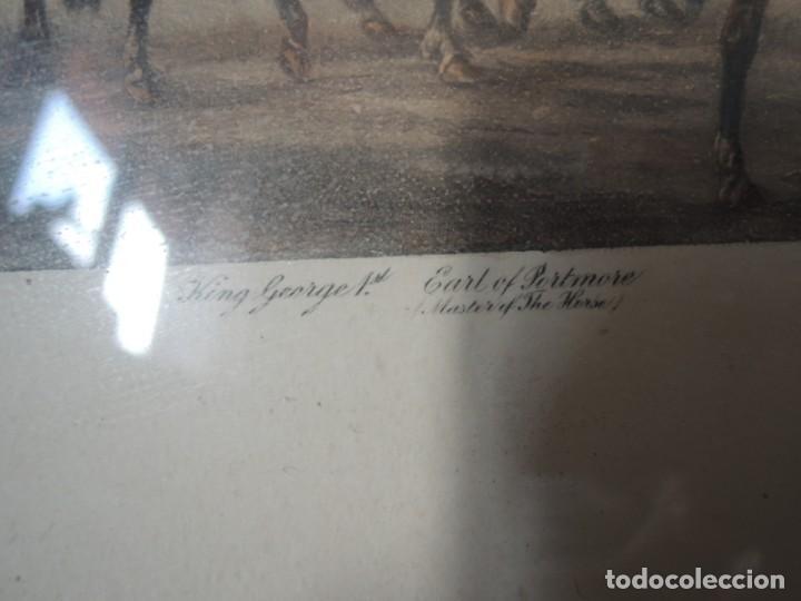 Arte: GRABADO ANTIGUO ENMARCADO P. FILLERMANNS DE KING GEORGE 1st. at NEWMARKET 1722 - Foto 13 - 140326054