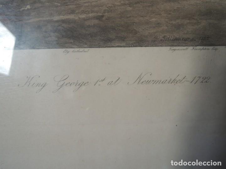 Arte: GRABADO ANTIGUO ENMARCADO P. FILLERMANNS DE KING GEORGE 1st. at NEWMARKET 1722 - Foto 16 - 140326054