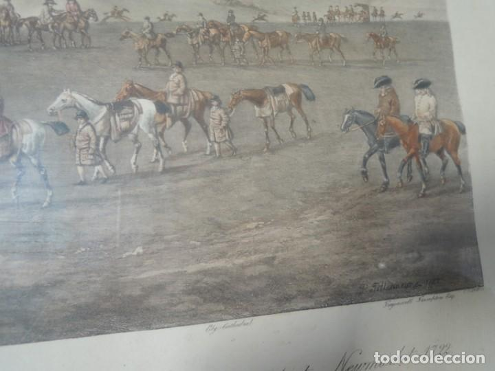 Arte: GRABADO ANTIGUO ENMARCADO P. FILLERMANNS DE KING GEORGE 1st. at NEWMARKET 1722 - Foto 17 - 140326054