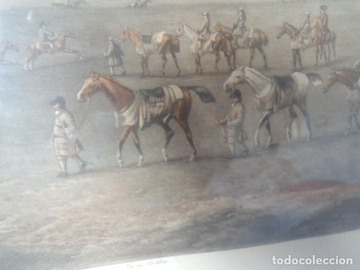 Arte: GRABADO ANTIGUO ENMARCADO P. FILLERMANNS DE KING GEORGE 1st. at NEWMARKET 1722 - Foto 28 - 140326054