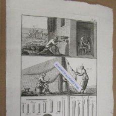 Arte: ARTES PESCA REDES APAREJOS - GRABADO AL COBRE, HUELLA DE 25*17CM, ENCYCLOPEDIE DES PECHES XVIII +. Lote 140382346
