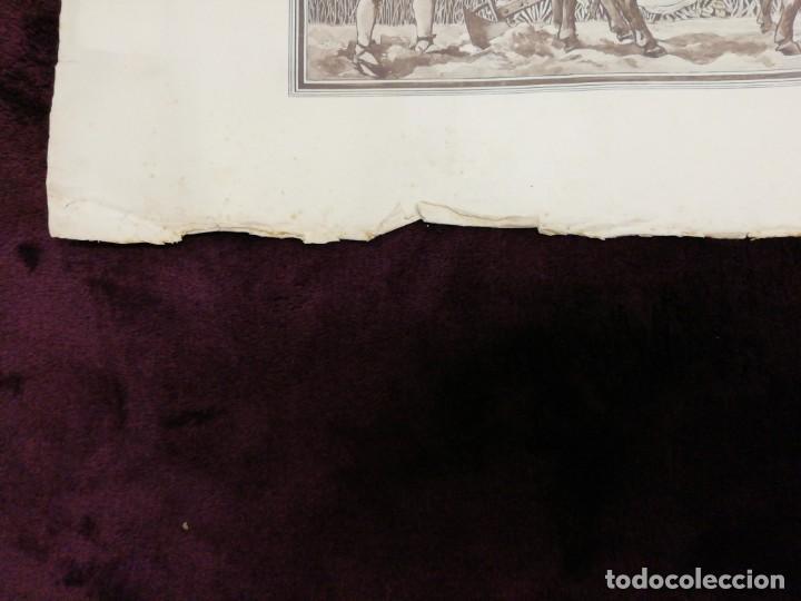 Arte: Antiguo grabado emitido por el Ayuntamiento de Barcelona. Feria, concurso, agrícola. Año 1898. - Foto 3 - 140411166