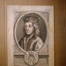 Arte: GRABADO CALCOGRAFIADO MONARQUÍAS EUROPEAS RETRATO MONARCA INGLÉS EDOUARD IV / EDUARDO IV. Lote 140488962