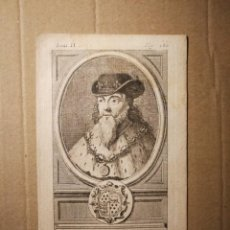 Arte: GRABADO CALCOGRAFIADO MONARQUÍAS EUROPEAS RETRATO MONARCA INGLÉS EDOUARD III / EDUARDO III. Lote 140489074