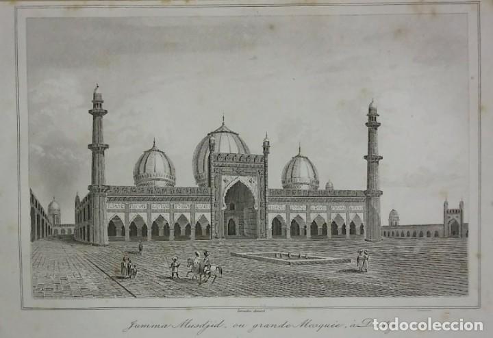 Arte: Grabado India Jumma Masjid Lemaitre Direxit Siglo XIX con Paspartú biselado - Foto 2 - 140515730