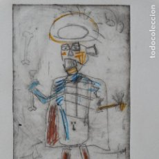 Arte: JEAN-MICHEL BASQUIAT, GRABADO FIRMADO (INTERÉS PICASSO, DALI, SAURA, REMBRANDT, ANDY WARHOL,..). Lote 140633334