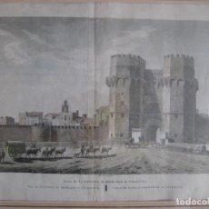 Arte: VISTA DE LA PUERTA DE SERRANOS DE VALENCIA, J.B.REVILLE, SIGLO XIX. Lote 140649046