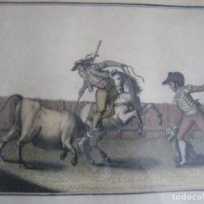 Arte: SUERTES DE CORRIDAS DE TOROS, LUIS FERNÁNDEZ NOSERET, LÁMINA III SUERTE DE VARAS. Lote 140652358