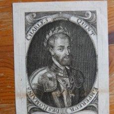 Arte: GRABADO RETRATO DE CARLOS V COLECCIÓN SCHWARTZ. Lote 140691418