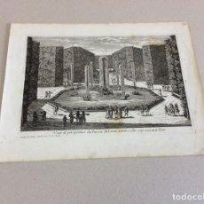 Arte: FUENTE DE LA DIOSA CERES EN LOS JARDINES DEL PALACIO DE VERSALLES (PARIS, FRANCIA), 1689.N DE POILLY. Lote 140737526