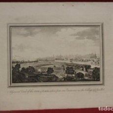 Arte: VISTA PANORÁMICA DE LA CIUDAD DE PARÍS (FRANCIA), 1792. BALDWIN. Lote 140740958