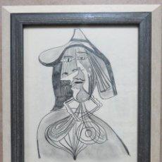 Arte: PABLO PICASSO. GRABADO ORIGINAL FIRMADO A MANO EN MARCO DE MADERA CON CRISTAL ,P.A. . Lote 140836366