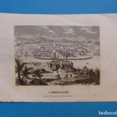 Arte: LA CIUDAD DE MEJICO, EN TIEMPO DE LA CONQUISTA POR LOS ESPAÑOLES - PRECIOSO GRABADO - AÑOS 1860-1890. Lote 140913238