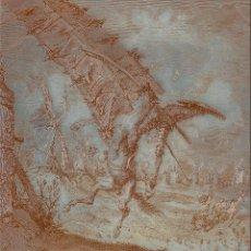 Arte: GUSTAVE DORÉ Y H.PISAN. PLANCHA EN COBRE DEL QUIJOTE GRABADO CON BURIL, FIRMADO POR G.DORÉ Y H.PISAN. Lote 140930346
