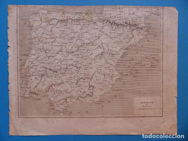 ESPAÑA Y PORTUGAL, TH. DUVOTENAY - PRECIOSO GRABADO - AÑOS 1860-1890 (Arte - Grabados - Modernos siglo XIX)