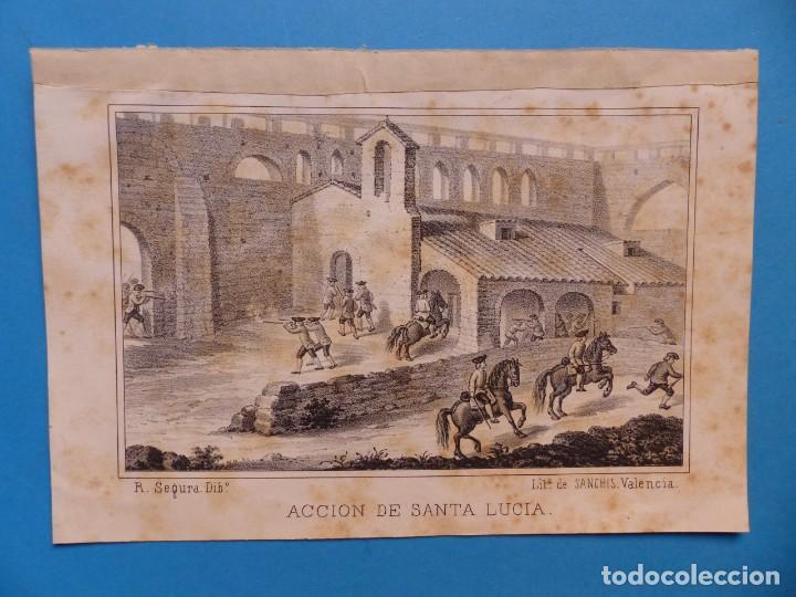 ACCION DE SANTA LUCIA - PRECIOSO GRABADO - AÑOS 1860-1890 (Arte - Grabados - Antiguos hasta el siglo XVIII)