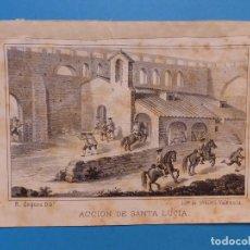 Arte: ACCION DE SANTA LUCIA - PRECIOSO GRABADO - AÑOS 1860-1890. Lote 140977250