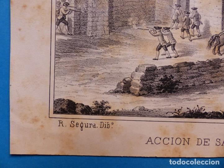 Arte: ACCION DE SANTA LUCIA - PRECIOSO GRABADO - AÑOS 1860-1890 - Foto 3 - 140977250