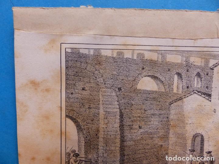 Arte: ACCION DE SANTA LUCIA - PRECIOSO GRABADO - AÑOS 1860-1890 - Foto 4 - 140977250