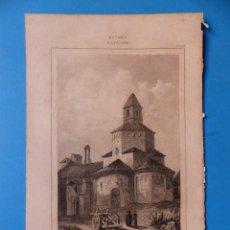 Arte: GERONA, IGLESIA DE SAN NICOLAS - PRECIOSO GRABADO - AÑOS 1860-1890. Lote 140977542