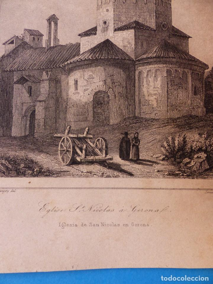 Arte: GERONA, IGLESIA DE SAN NICOLAS - PRECIOSO GRABADO - AÑOS 1860-1890 - Foto 2 - 140977542