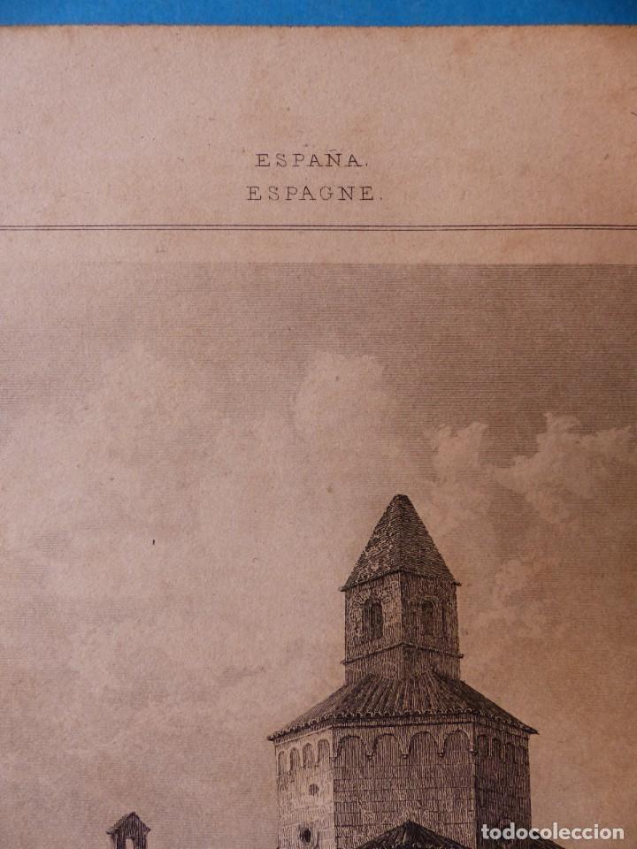 Arte: GERONA, IGLESIA DE SAN NICOLAS - PRECIOSO GRABADO - AÑOS 1860-1890 - Foto 3 - 140977542