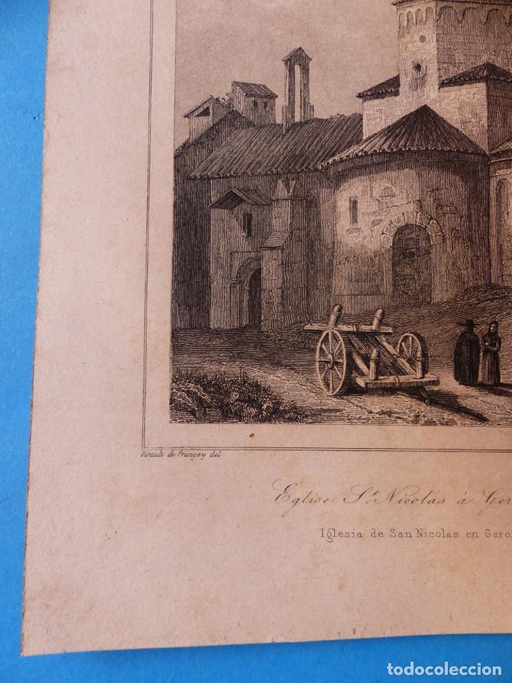 Arte: GERONA, IGLESIA DE SAN NICOLAS - PRECIOSO GRABADO - AÑOS 1860-1890 - Foto 6 - 140977542