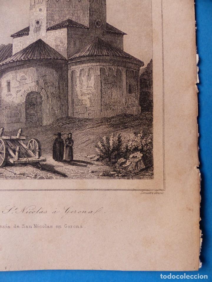 Arte: GERONA, IGLESIA DE SAN NICOLAS - PRECIOSO GRABADO - AÑOS 1860-1890 - Foto 7 - 140977542