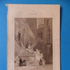 Arte: BURGOS, CATEDRAL - PRECIOSO GRABADO - AÑOS 1860-1890. Lote 140977754