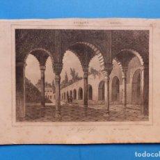 Arte: GRANADA, EL GENERALIFE - PRECIOSO GRABADO - AÑOS 1860-1890. Lote 140978270