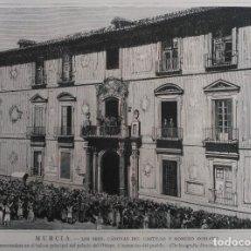 Arte: MURCIA - PALACIO EPISCOPAL (SRES. CANOVAS DEL CASTILLO Y ROMERO ROBLEDO) (1885). Lote 141154498