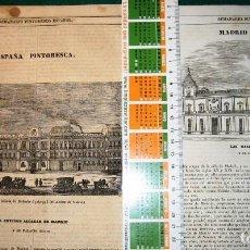 Arte: MADRID. 6 GRABADOS 1840-3. Lote 141495214