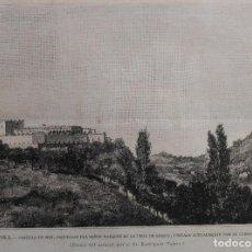 Arte: PONTEVEDRA - CASTILLO DE MOS, PROPIEDAD DEL MARQUES DE LA VEGA DE ARMIJO. (1889). Lote 141741850